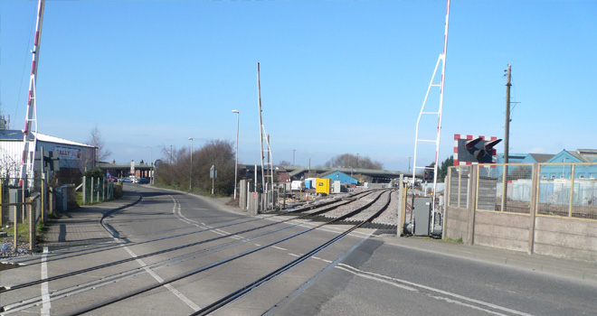 Lincoln Sincil Bank railway