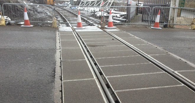 Bedale Level crossing with Polysafe Panels
